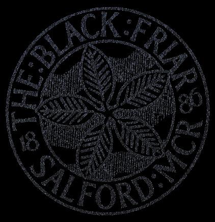 BLACK FRIAR Round Logo Black